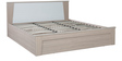 Ambra King Bed with Hydraulic Storage in White Finish by HomeTown