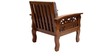 Amherst Teak Wood Sofa Set (3 + 1 + 1) Seater in Natural Teak Finish by Finesse