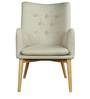 Amancio Wing Chair in Beige Colour by CasaCraft
