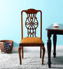 Priscilla Dining Chair in Honey Oak Finish by Amberville