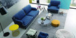 Anabel Three Seater Sofa in Columbia Blue Colour by CasaCraft