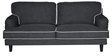 Anabel Three Seater Sofa in Ebony Grey Colour by CasaCraft