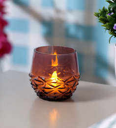Anasa Multicolour Metal Carving Votive Tea Light Holder