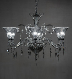 Anemos Silver Stainless Steel & Glass Chandelier - 1530989