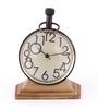 Anantaran Brass Table Clock Trophy Stand