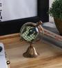Anantaran Brwon Brass Antique Globe Stand Table Clock