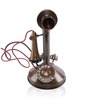 Anantaran Retro Brass Telephone with Bell Brown Antique