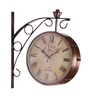 Anantaran Copper Iron Two Sided Station Clock