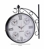 Anantaran Five Time Metal Station Clock Wall Clock Double Side
