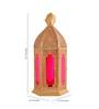 Anasa Gold Metal Lantern Set of 2
