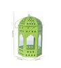 Anasa Green Metal Lantern Set of 4
