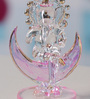 Anasa Multicolour Crystal Moon Ganesh God Idol