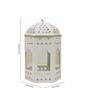 Anasa Pink & White Metal Lantern Set of 2