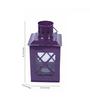 Anasa Purple &  Red Iron Lantern Set of 2