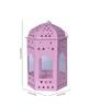 Anasa White & Pink Metal Lantern Set of 4