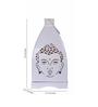 Anasa White Metal Lantern Set of 2