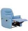 Ancona One Seater Recliner Chair in Blue Colour by Furnitech