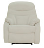 Ancona One Seater Recliner Chair in White Colour by Furnitech