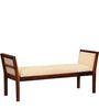Harrington Upholstered Bench in Honey Oak Finish by Woodsworth