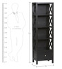 Anderson Cross Sided One Drawer Book Shelf in Black Colour by Asian Arts