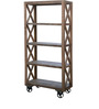 Anderson Trolly Cross Sided Display Unit in Brown Colour by Asian Arts