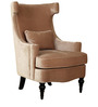 Andria Wing Chair in Beige Colour by HomeTown