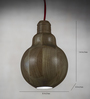 Anemos Brown Wood Hanging Light