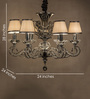 Anemos Cream Metal Chandelier