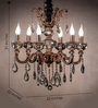 Anemos Gold Metal & Glass Chandelier