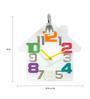 Anemos White Acrylic 14 x 15 Inch House Wall Clock