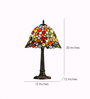 Anemos Multicolour Tiffany Glass Table Lamp