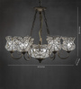Anemos Silver Metal & Glass Chandelier