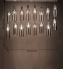 Anemos Silver Stainless Steel & Glass Chandelier