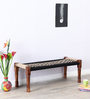 Animesh Bench with Weaving Work in Provincial Teak Finish by Mudramark