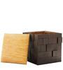 Anna Box Pouffe Dark Walnut Finish by Inliving