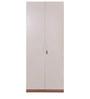 Anne Teen Two Door Wardrobe in White & Maple Finish by Evok