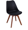 Anzu Accent DSW Eames Replica Chair (Set of 2) in Black Colour by Mintwud