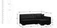 Apollo Sectional Sofa with LHS Chaise in Black Colour by Furny