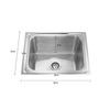 Apollo Stainless Steel Single Bowl Kitchen Sink - AS16