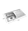 Apollo Stainless Steel Single Bowl Kitchen Sink with Drainer - AS24