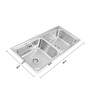 Apollo Stainless Steel Double Bowl Kitchen Sink - AS35