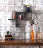 Pedro Contemporary Wall Shelf in Black by CasaCraft