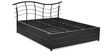 Arya Queen Bed with Hydraulic Storage in Black Colour by @Home