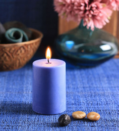 Aroma India Ocean Breeze Scented Pillar Candle