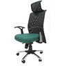 Argentina High Back Office Executive Chair in Green Colour by Chromecraft