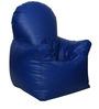 Arm Chair XXXL Bean Bag with Beans in Royal Blue Colour by Sattva