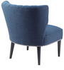 Armless Contemporary Wing Back Chair with Back Cushion by Afydecor
