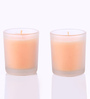Aroma India Aqua Mandarin Frosted Scented Votive Candle - Set of 2
