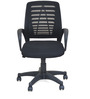 Arrow Mid Back Office Chair in Black  colour by @home