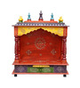 Art Creation Multicolour MDF & Mango Wood One Drawer Painted Temple